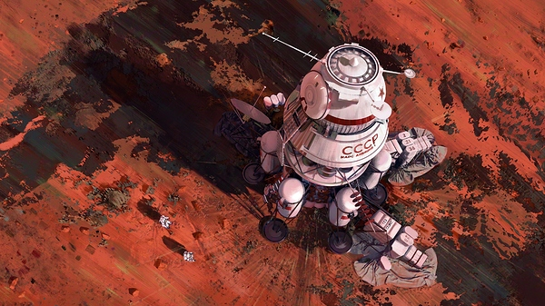 Painting_Art_Mars_Ships_USSR_570703_3840x2160